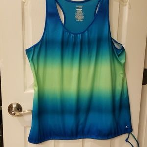 Blue/Green Athletic Top
